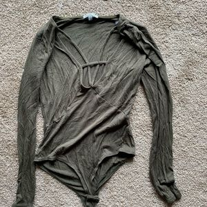 Olive color bodysuit